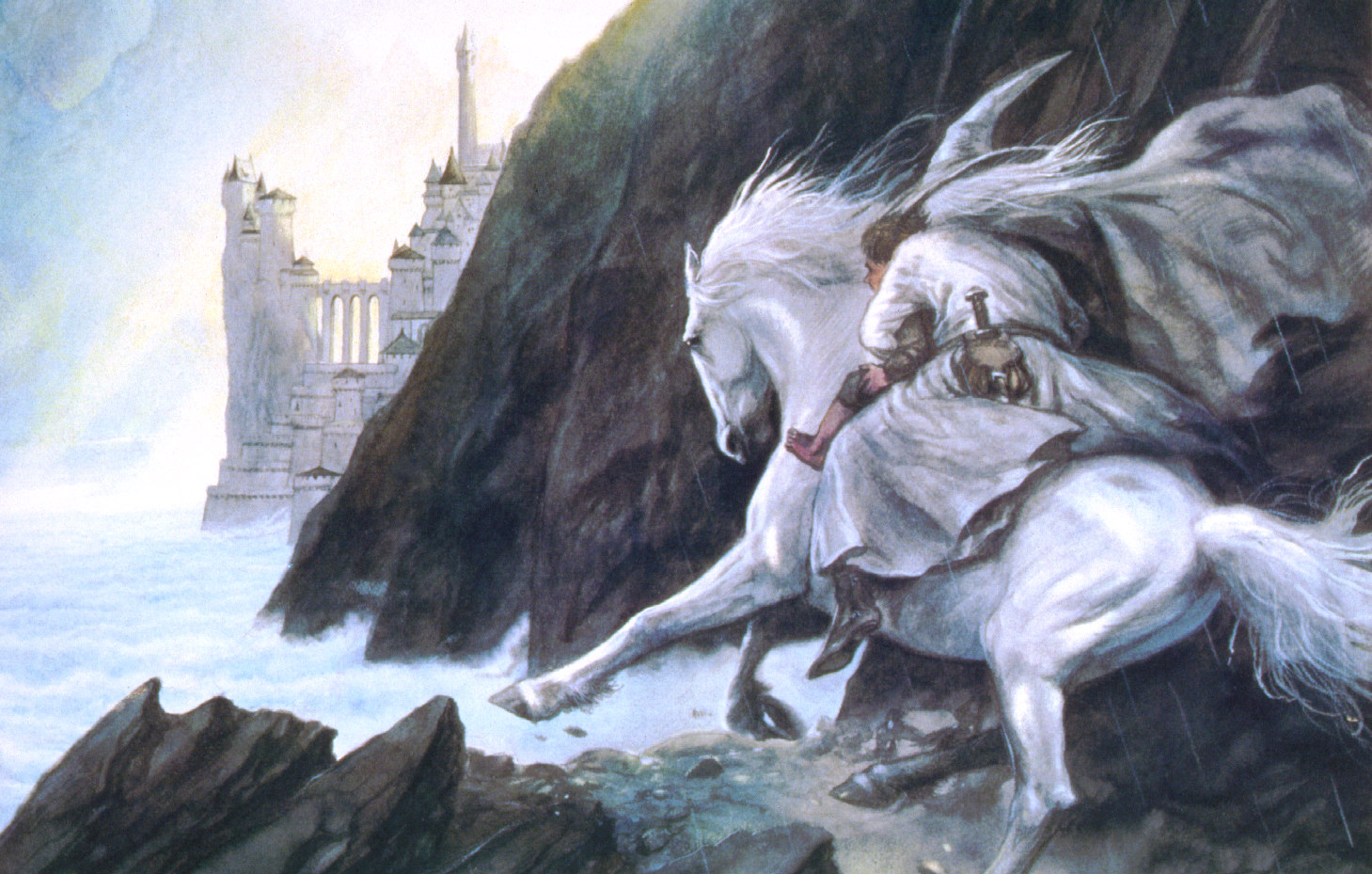John Howe Drawings Gandalf Approaches The Guarded